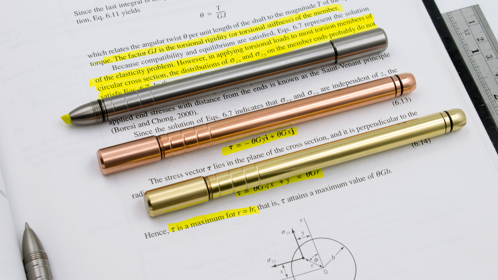 TiScribe-HL: The First Titanium/Copper/Brass Highlighter Pen project video thumbnail