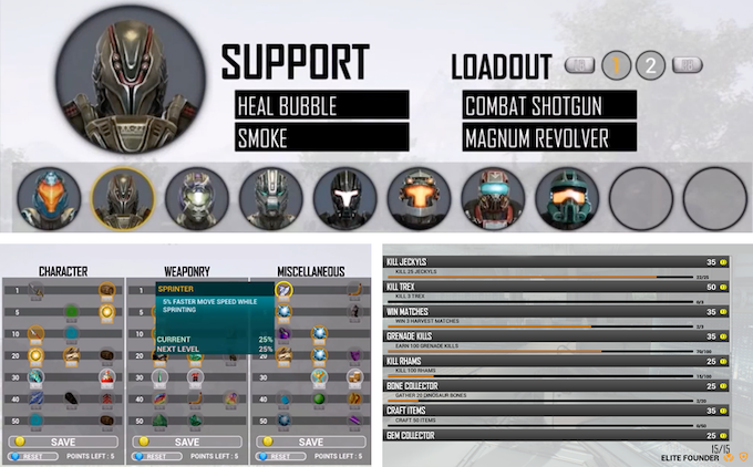 Player Loadouts, Skill Trees, Quests & more!