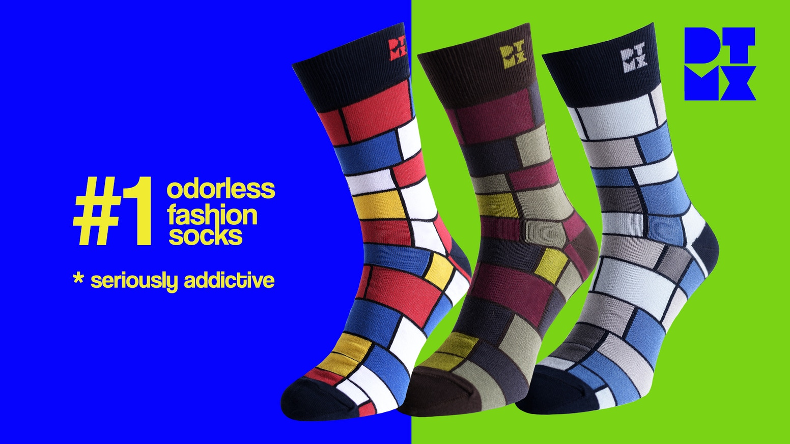 DTMX is a brand of funky silver socks for healthy feet, that incorporates fashion, sustainability & innovation.