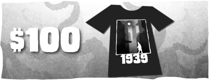 (1939 T-shirt, design not finalized)