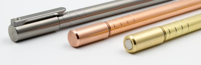 Cap Options Shown: Titanium Pocket Clip ($10), Standard, and Magnet ($5)