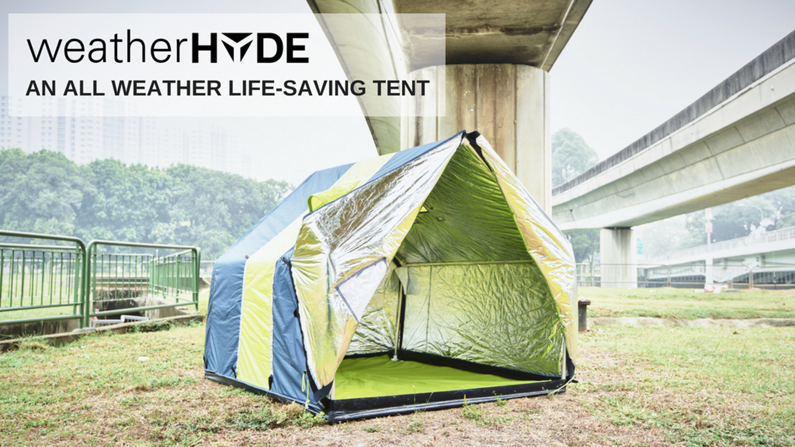 The world's only reversible all season family tent designed to save the lives of homeless and vulnerable living in extreme weather.