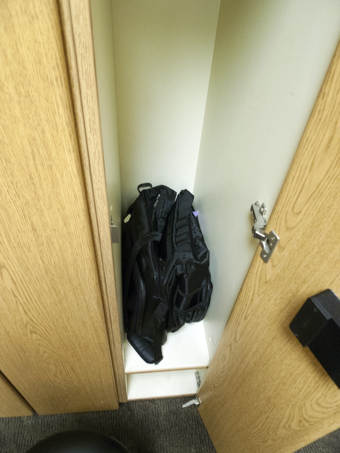 Both bags fit inside a gym locker as well