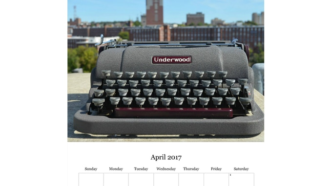 The mills make the perfect background since this typewriter was made in the USA
