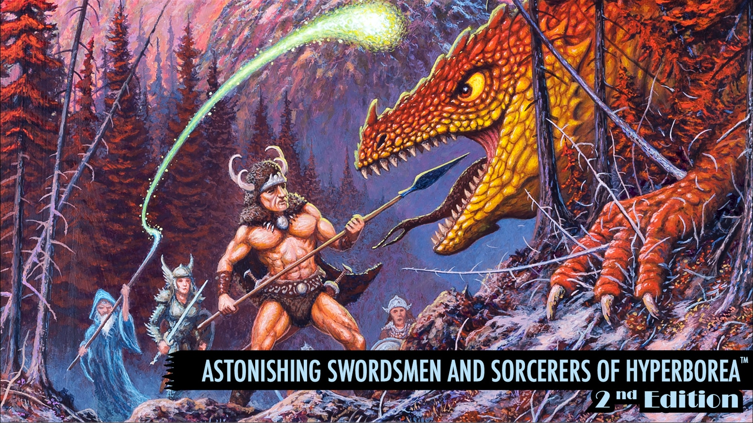 The premier sword-and-sorcery RPG now in 2E hardback format! Inspired by Robert E. Howard, H.P. Lovecraft, and Clark Ashton Smith. The Kickstarter is finished, but you can preorder AS&SH 2E at our website today!