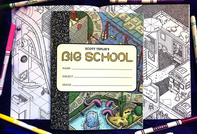 The BIG SCHOOL coloring book provides hour upon hour of both adult and kid entertainment