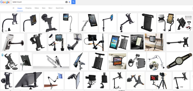 'TABLET MOUNT' GOOGLE SEARCH