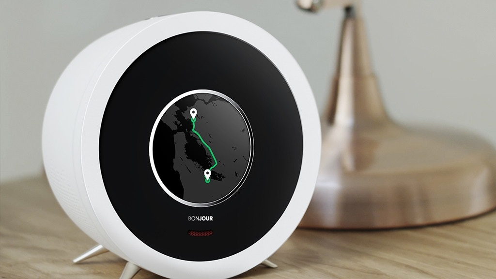bonjour smart alarm clock with artificial intelligence by bonjour