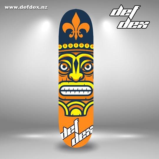 DEFDEX hand-painted skateboard deck