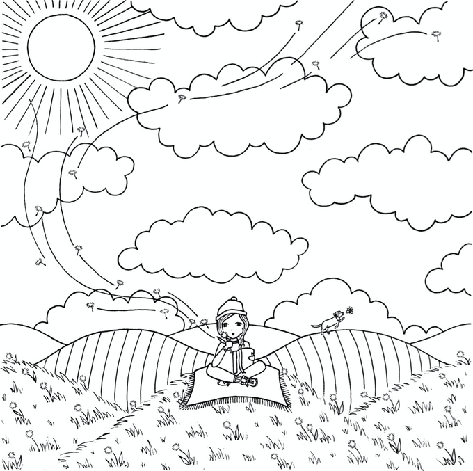 Add some color to this adventure page in our coloring book.
