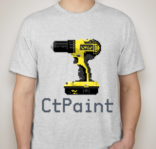 The 'pixel art' shirt design, your choice upon ordering