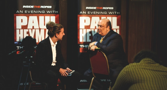 Working with one of professional wrestling's most influential minds, Paul Heyman earlier this year. You can watch our full interview with The Advocate by clicking this link. Photo: Robyn Goding