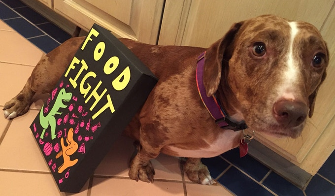 Ginger The Dino Dog with Food Fight: The Game