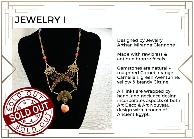 MINIMUM $400 DONATION for this Prize and other prize tiers below it! A visually breathtaking necklace with expert craftsmanship and unique gemstone combinations. Truly a sight to behold! Only 1 available! SOLD OUT!!