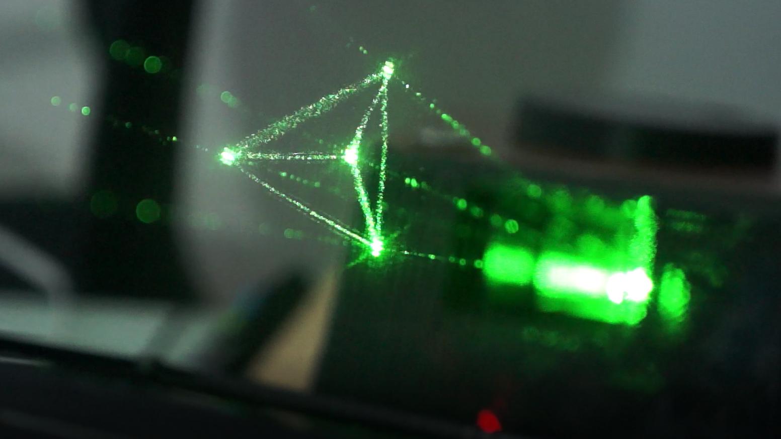 Holovect Holographic Vector Display By Jaime Ruiz Avila