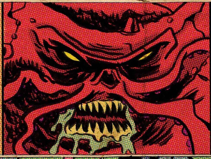 One of the mysterious monsters, KB meets in Issue #1