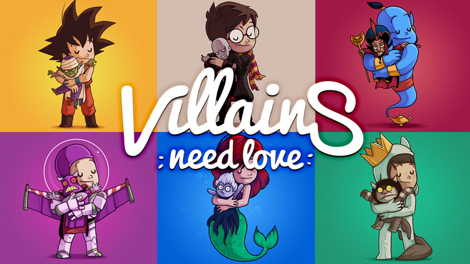Villains are bad tempered guys, what if we try to change that by giving them some love?