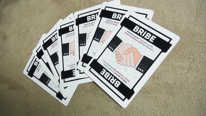 Bribe cards