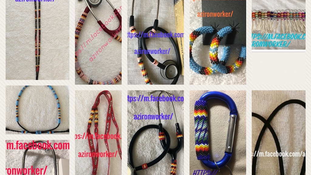 Native American Beadwork shop/Beaded stethoscopes