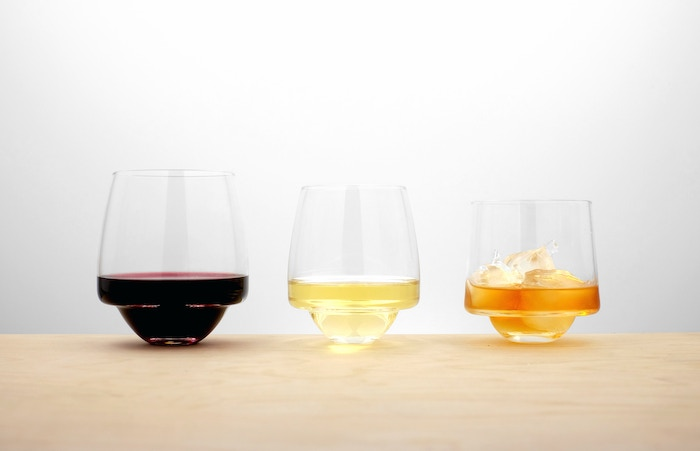 Handcrafted, spill-proof glassware