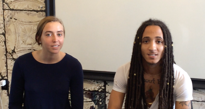 """""""I Am Me"""" Co-Directors: Sophie Sither, 20, and Ricco Williams, 29."""