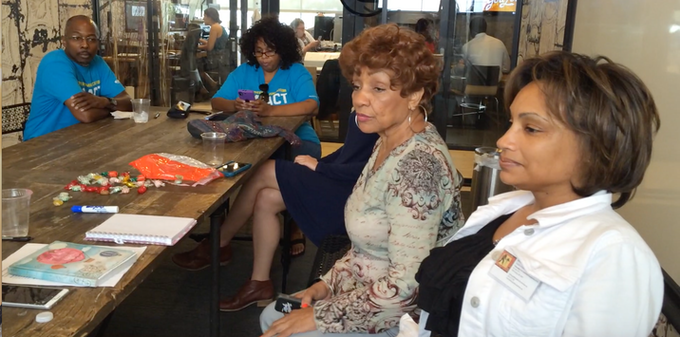 """Lynda S. Balthrop (LSB) with the team at """"I Am Me"""" Production Meeting"""