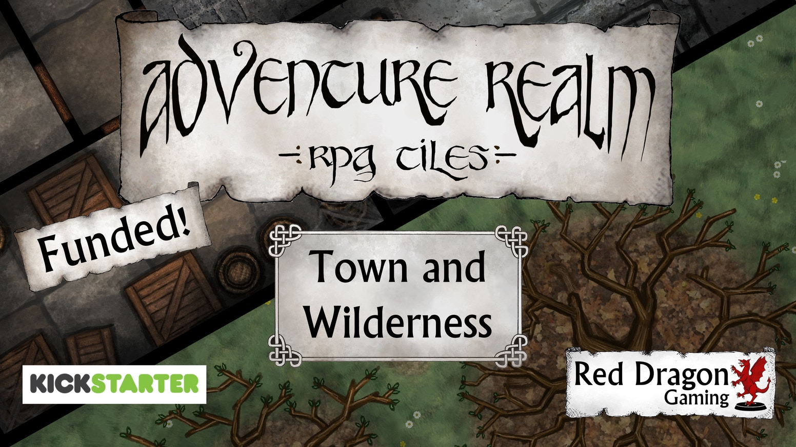 """Help us launch our awesome set of 16 card map tiles for RPG games, 8"""" square, printed on both sides and full colour illustration"""