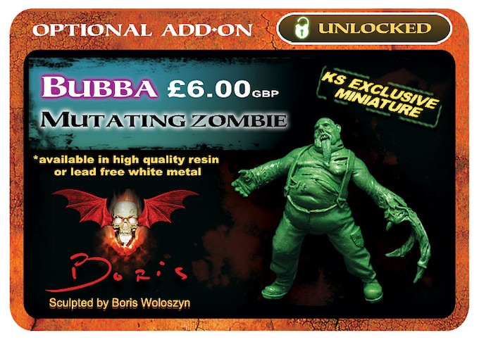 Bubba will be available in both high quality resin & lead free alloy metal.