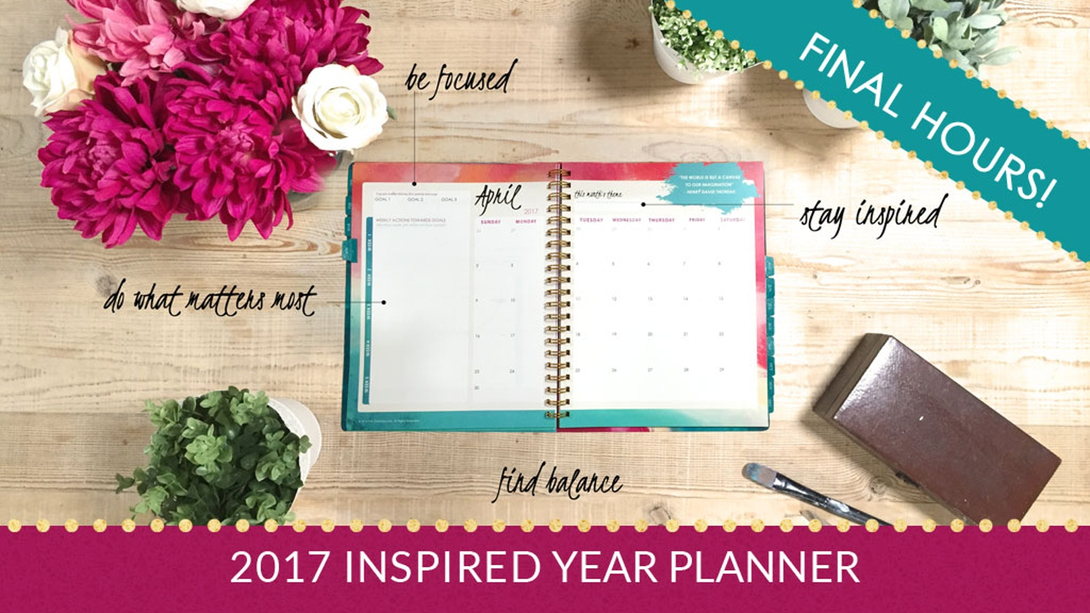 Kickstarter Calendar Planner : Inspired year planner goal setting for creative
