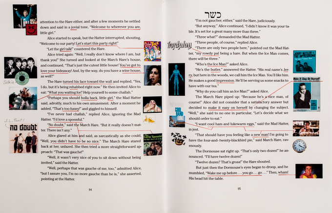 ...or perhaps underline and paste in pictures of the artists and albums you've found!
