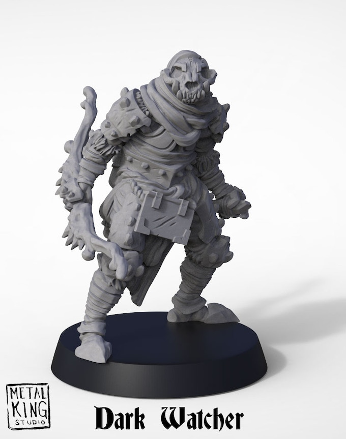 The Dark Wanderer model kit includes the option to assemble the character with a Longbow or a Maul. Choose your favorite or buy an extra kit in the add-ons so you can have both builds.