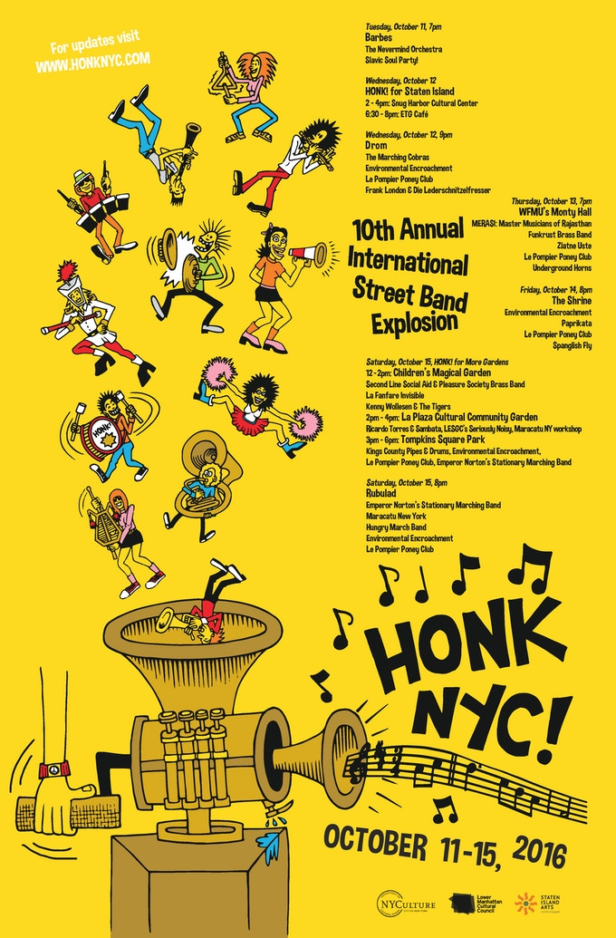 2016 Festival Poster - Original Art by John Holmstrom