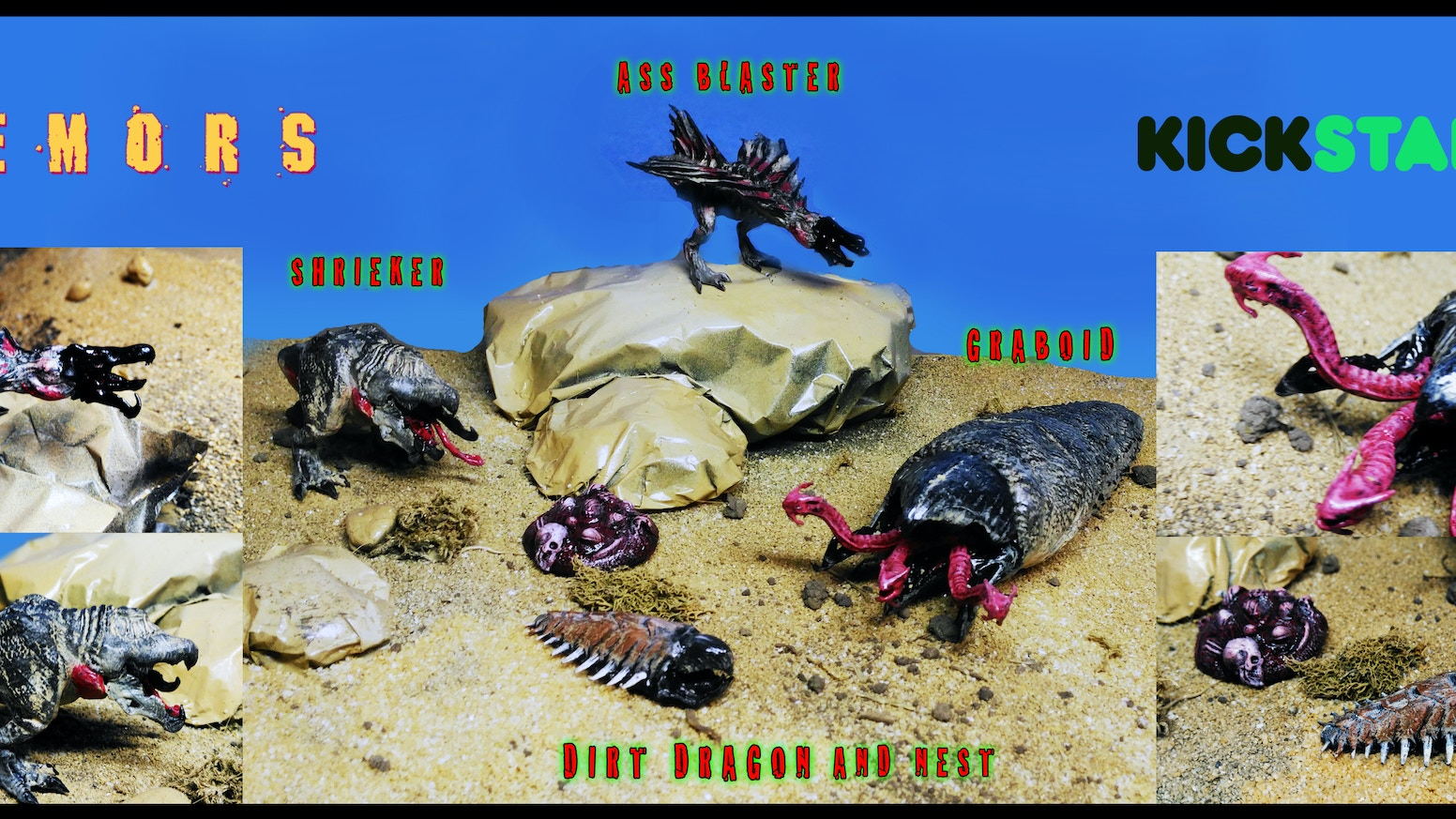 Tremors Figures Fan Made By Beast Toys By Heather Reinhardt Josh