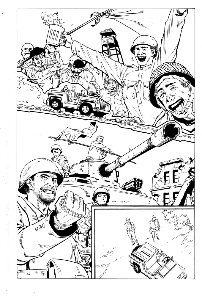 Issue #2 page 7 - inks by Jethro Morales