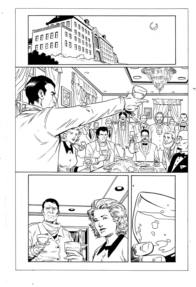 Issue #2 page 9 - inks by Jethro Morales