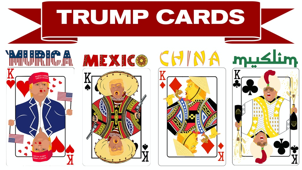 Trump Cards - Satirical, Politically Themed Playing Cards project video thumbnail