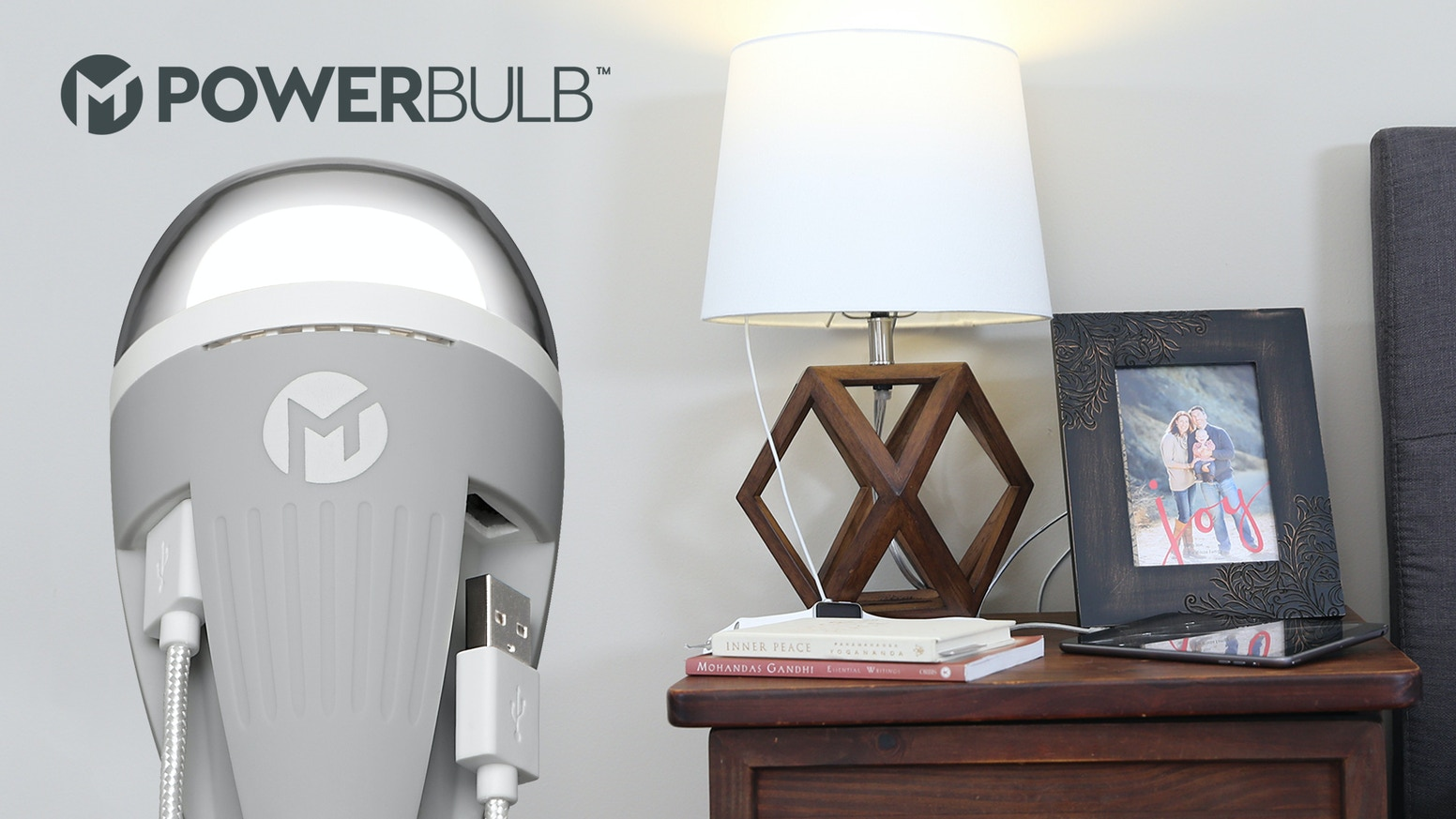 PowerBulb is the world's first LED light bulb with dual USB ports that turns any lamp into a charging station. Where #LightMeetsPower