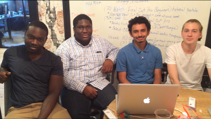Our Aspiring Editors: (left to right) Khadeem, Kevin, Antonio, and Niklas.