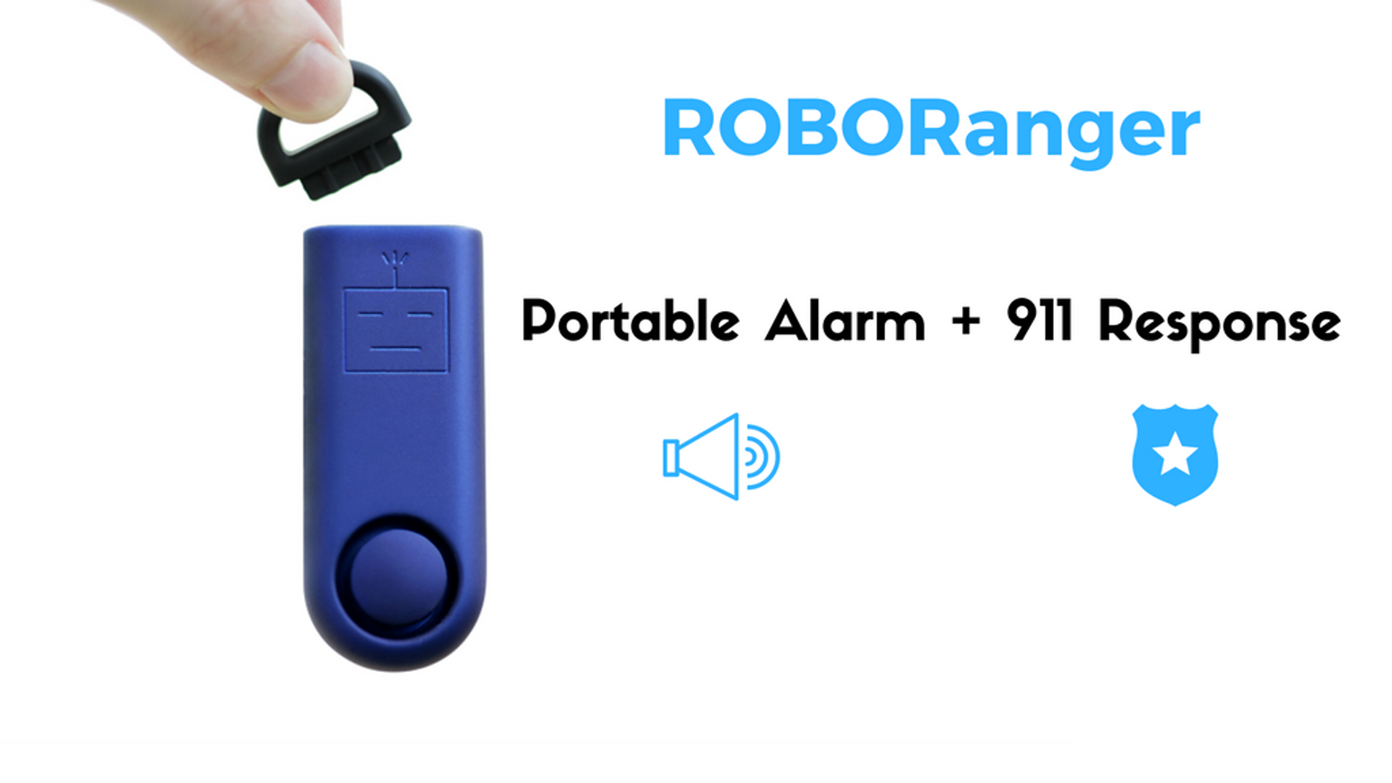 ROBORanger is a tiny gadget that can save your life. A blaring 130-decibel alarm equipped with professional 911 response.