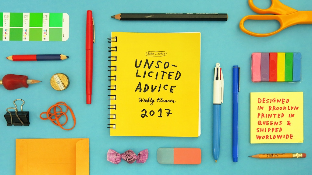 Unsolicited Advice: 2017 Weekly Planner project video thumbnail
