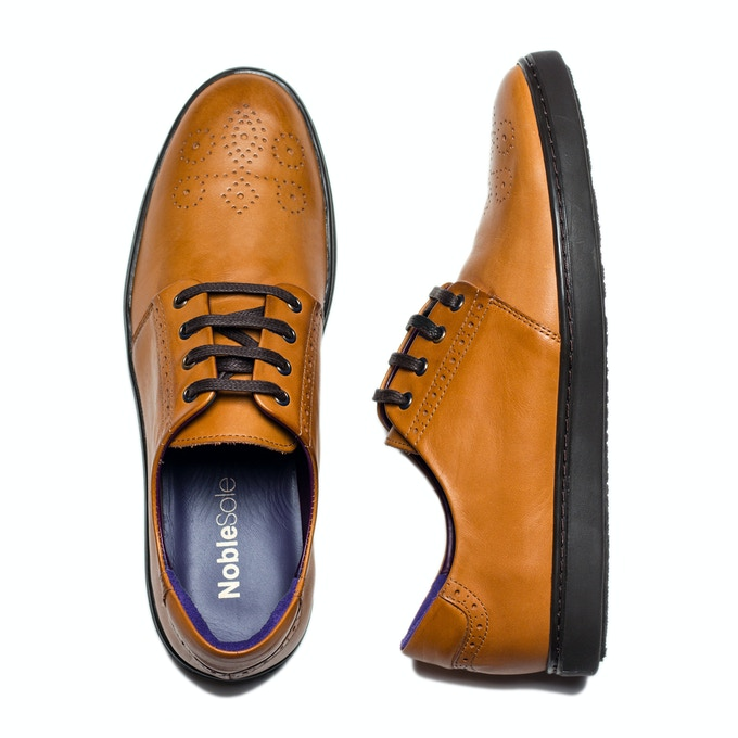 Cognac: Best worn with bright blues and light greys - think spring/summer colours.