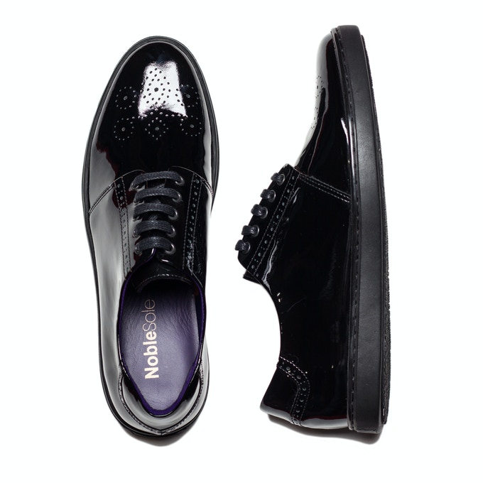 Black Patent: Try these at your next black tie event. Or wear them casually with torn up skinny jeans and a leather jacket.