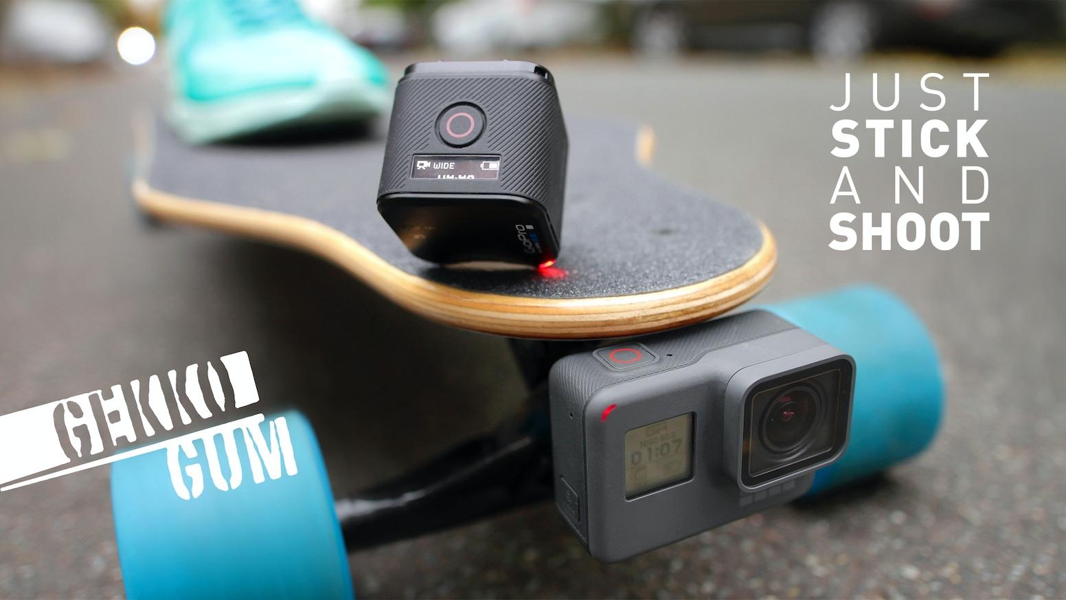 GekkoGum - the quickest GoPro® and Smartphone mount by