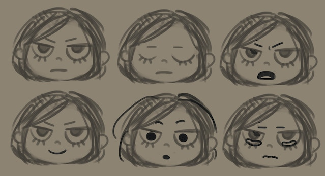 Trying out some of Nairi's expressions!