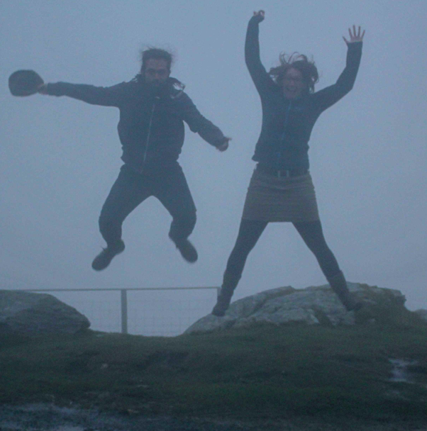 And to Finish a blurry picture of the editors jumping with excitement!