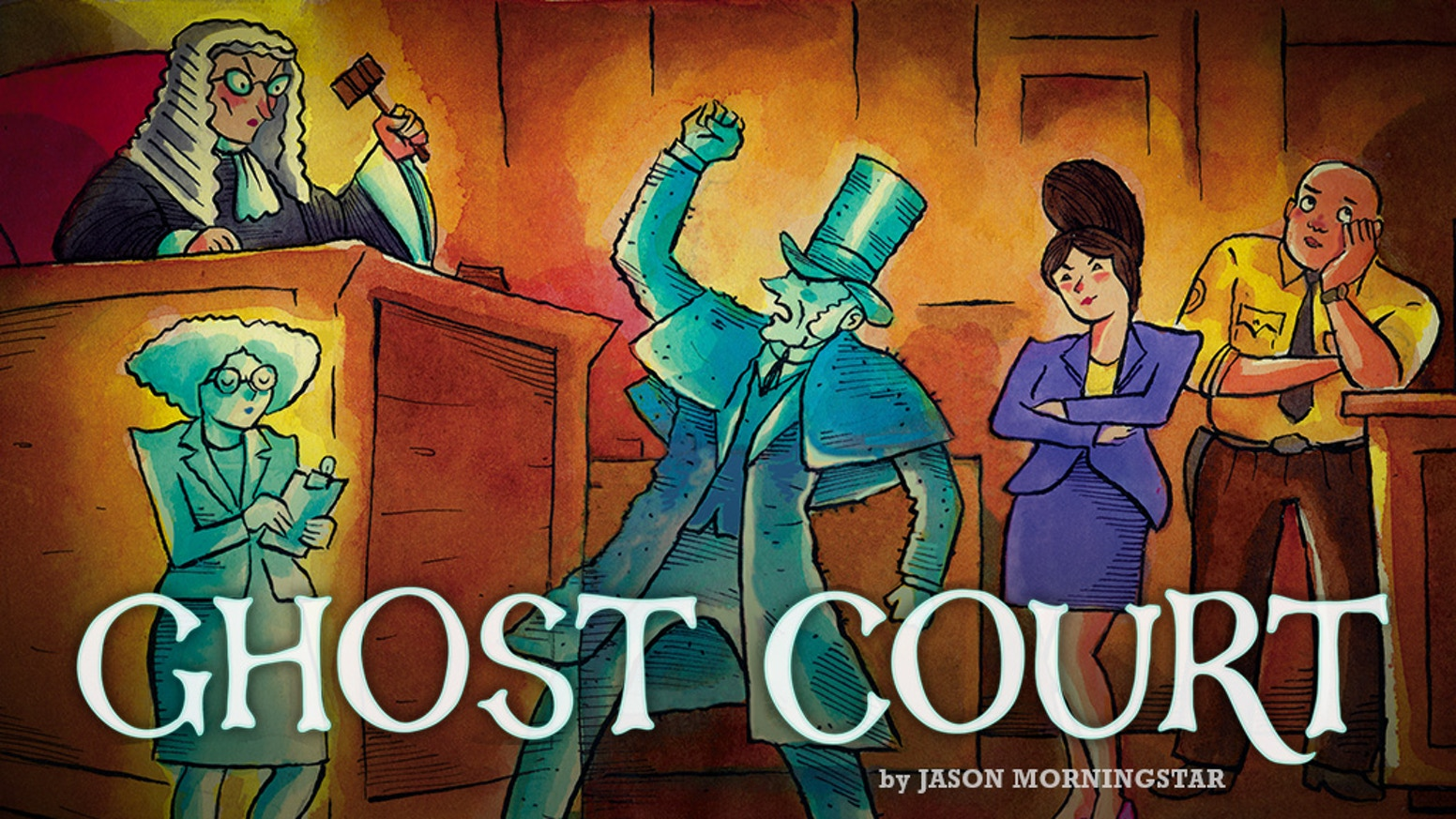 A ridiculous party game about ghosts and the people who sue them!