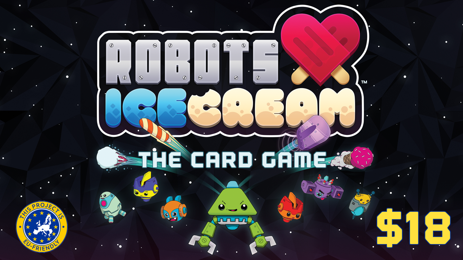 Family friendly co-op game for 1-4 players ages 8+. Collect sets of weaponized ice cream to defeat Spinston & save the galaxy.