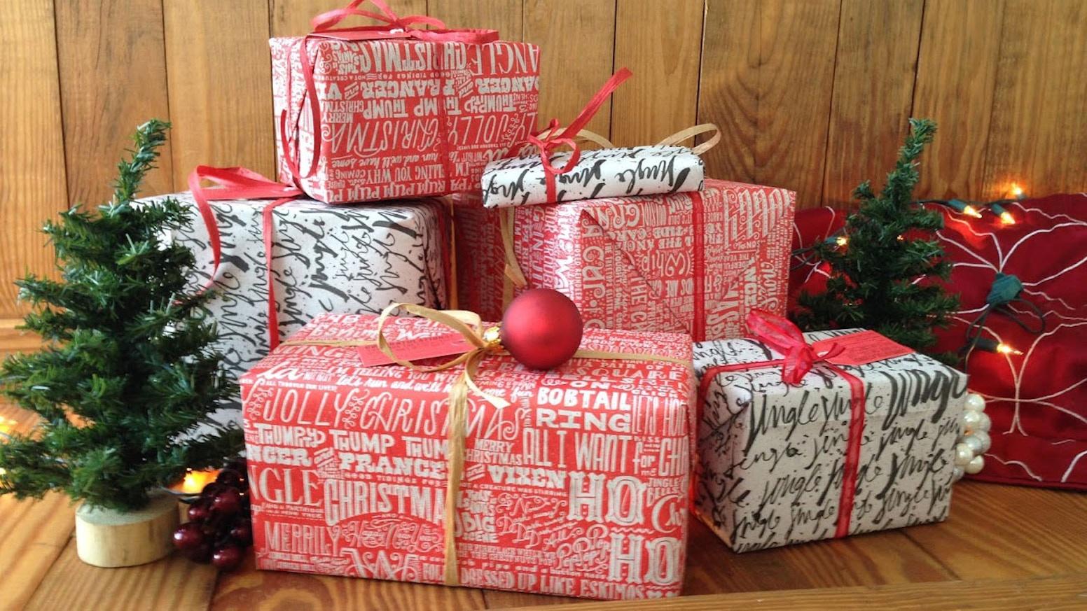 Christmas Newsprint Gift Wrap