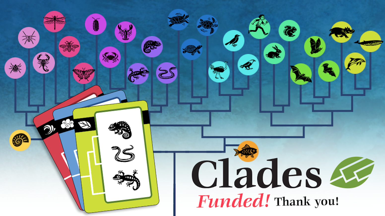 Clades & Clades: Prehistoric are animal-matching games about evolutionary descent, ages 6 to adult. Good fun and good science. Order here.