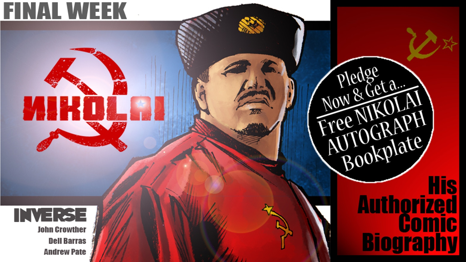 The real-life tale of Nikolai Volkoff - his family history, his escape from the Soviet Bloc, & his rise to wrestling fame in the USA!